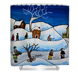 Christmas Night Shower Curtain