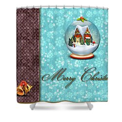 Christmas Card 13 Shower Curtain