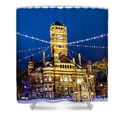 Christmas On The Square Shower Curtain