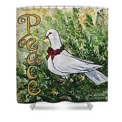 Christmas Peace Dove Shower Curtain