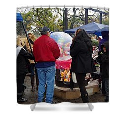 Christmas People Cold And Muddy Shower Curtain