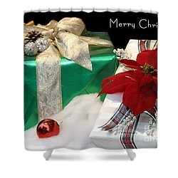 Christmas Presents Shower Curtain by Living Color Photography Lorraine Lynch