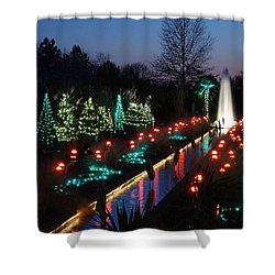 Christmas Reflections Shower Curtain by Rodney Lee Williams