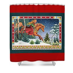 Christmas Ride Shower Curtain