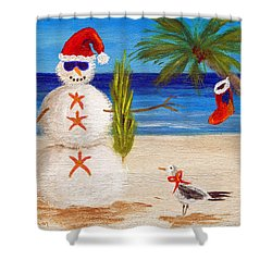 Christmas Sandman Shower Curtain by Jamie Frier