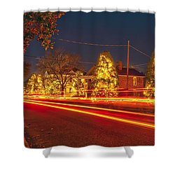 Shower Curtain featuring the photograph Christmas Town Usa by Alex Grichenko
