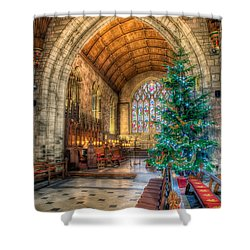 Christmas Tree Shower Curtain by Adrian Evans