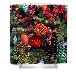 Christmas Tree Cheer Shower Curtain by Byron Varvarigos
