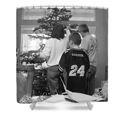 Christmas Tree Prep Shower Curtain