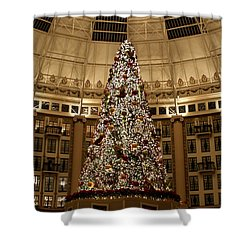 Christmas Tree Shower Curtain by Sandy Keeton