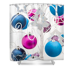 Christmas Tree Tree Shower Curtain by Anne Gilbert