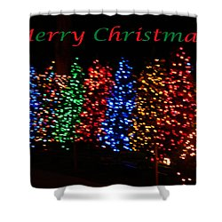 Christmas Trees Dancing In The Night Shower Curtain