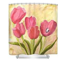Tulip Time Shower Curtain by Mickey Krause