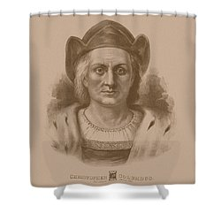 Christopher Columbus Shower Curtain by War Is Hell Store