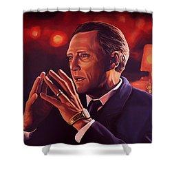 Christopher Walken Painting Shower Curtain by Paul Meijering