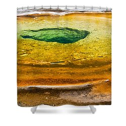 Chromatic Pool Vertical Shower Curtain
