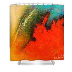 Fantasies In Space Series Painting. Chromatic Vibrations Shower Curtain