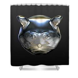 Chrome Cat Shower Curtain