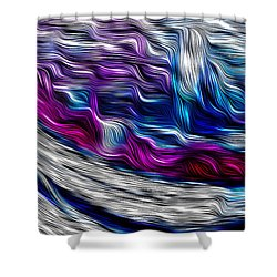 Chrome Waves Shower Curtain by Bill Kesler