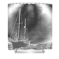 Chromed Sailboats In Key Largo Shower Curtain
