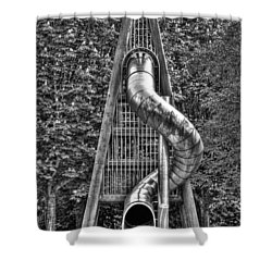 Chromium Slide Shower Curtain by Semmick Photo