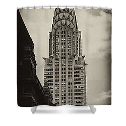 Chrysler Shower Curtain by Andrew Paranavitana