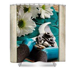 Chrysanthemum Cuttings Shower Curtain by John Edwards