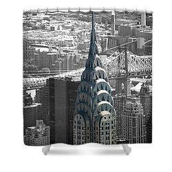 Chrysler Building Shower Curtain by Angela DeFrias