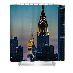 Chrysler Building At Sunset Shower Curtain
