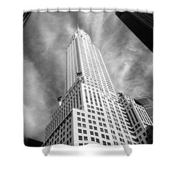 Chrysler Building Infrared Shower Curtain