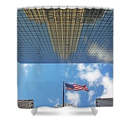 Chrysler Building Reflections Vertical 2 Shower Curtain by Nishanth Gopinathan