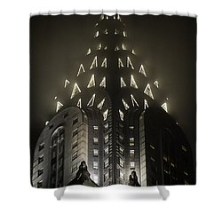Chrysler Fog Lights Shower Curtain