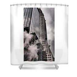 Chrysler Building With Gargoyles And Steam Shower Curtain