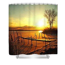 Chtistmas Dock 1 Shower Curtain