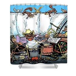 Chuckwagon Shower Curtain