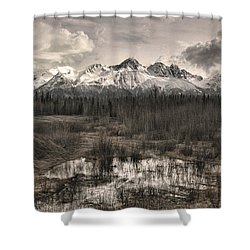 Chugach Mountain Range Shower Curtain