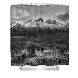 Chugach Mtn Range Shower Curtain