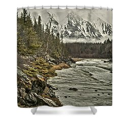 Chugach Range Shower Curtain