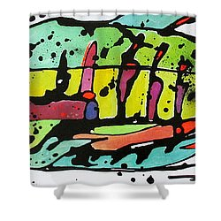 Shower Curtain featuring the painting Chum by Nicole Gaitan