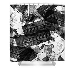 Shower Curtain featuring the digital art Chunky Abstract Revisited by Chriss Pagani