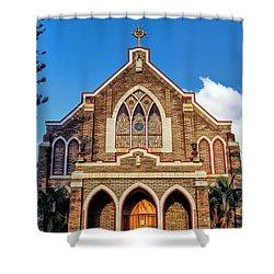 Shower Curtain featuring the photograph Church 1 by Dawn Eshelman