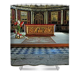 Shower Curtain featuring the photograph Church Alter Provence France by Dave Mills