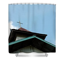 Church Shower Curtain by Antoni Halim