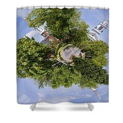 Church Circle Shower Curtain by Heather Applegate