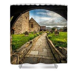 Church Entrance Shower Curtain by Adrian Evans