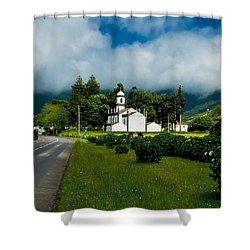 Church In Seven Cities Shower Curtain