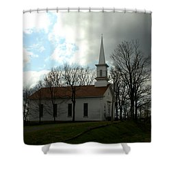 Church In The Country Shower Curtain