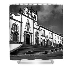 Church In Vila Franca Do Campo Shower Curtain by Gaspar Avila