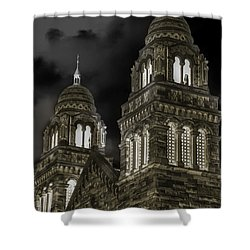 Church Lights On St. Peter Cathedral Shower Curtain by Optical Playground By MP Ray
