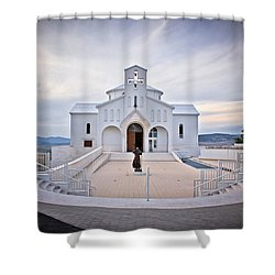 Church Of Croatian Martyrs In Udbina Shower Curtain